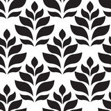 вектор геометрической картины безшовный Современное флористическое, текстура листьев Стоковое фото RF