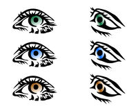 вектор глаз Стоковое Изображение