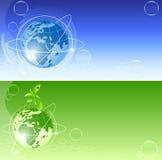 вектор глобуса предпосылок Иллюстрация вектора
