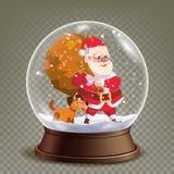 Вектор глобуса снега рождества реалистический подарки santa claus милые Реалистическая игрушка глобуса снега 3d Дизайн Xmas зимы Стоковое фото RF