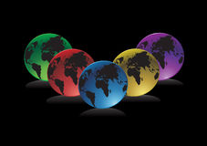 вектор глобусов Стоковые Изображения RF