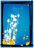 вектор голубого thistle предпосылки Стоковая Фотография RF