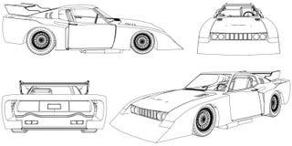 Вектор 15 гоночной машины иллюстрация вектора