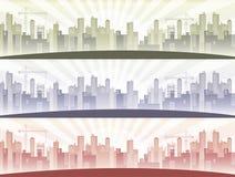 вектор горизонта конструкции города предпосылки ваш иллюстрация вектора