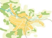 вектор города ii упрощенный картой Стоковое Изображение