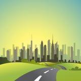 вектор городского пейзажа Стоковые Фото