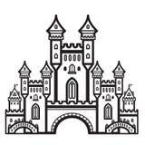 Вектор года сбора винограда замка Стоковое Фото