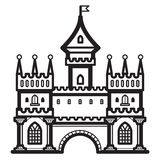 Вектор года сбора винограда замка Стоковая Фотография RF