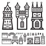 Вектор года сбора винограда замка Стоковые Изображения