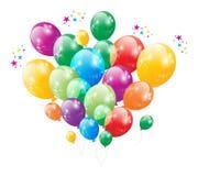 Вектор годовщины баллона вечеринки по случаю дня рождения Стоковое Изображение RF