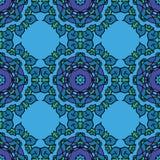 вектор голубой картины безшовный Стоковое Изображение RF