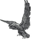 Вектор - гравировка орла Стоковые Фотографии RF
