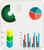 Вектор графиков информации плоский Иллюстрация штока