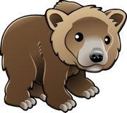 вектор гризли медведя коричневый милый Стоковое Изображение RF