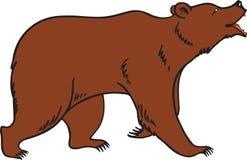 вектор гризли медведя коричневый иллюстрация штока