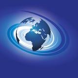 Вектор глобуса Swirly бесплатная иллюстрация