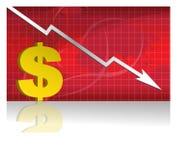 вектор девизов в долларах Стоковое Изображение RF