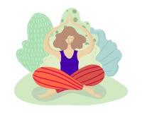 Вектор девушек йоги иллюстрация штока