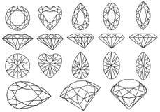 вектор диаманта установленный Стоковая Фотография RF