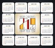 вектор 2019 дизайна календаря рождества иллюстрация штока