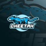 Вектор дизайна логотипа талисмана гепарда с современным стилем концепции иллюстрации для печатания значка, эмблемы и футболки сер бесплатная иллюстрация