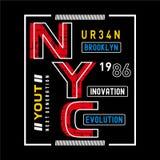 Вектор дизайна оформления Нью-Йорка Бруклина бесплатная иллюстрация