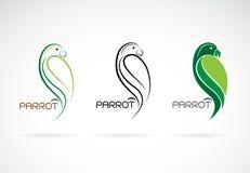 Вектор дизайна попугая на белой предпосылке , Значок птицы Стоковое Изображение