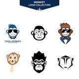 Вектор дизайна собрания логотипа обезьяны изумляя бесплатная иллюстрация