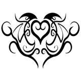 Вектор дизайна татуировки абстрактного сердца племенной Стоковое Фото
