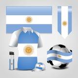 Вектор дизайна флага Аргентины иллюстрация штока