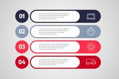 Вектор дизайна Infographics Концепция дела с шагами или процессами Иллюстрация штока