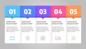 Вектор дизайна Infographics Концепция дела с шагами или процессами Иллюстрация вектора