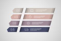 Вектор дизайна Infographics Концепция дела с шагами или процессами Бесплатная Иллюстрация