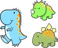 вектор динозавра младенца установленный иллюстрация вектора