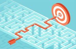 Вектор для стратегии бизнеса и планировать преодолевать препоны и проблемы достигнуть успех иллюстрация вектора