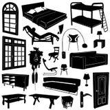 вектор дома мебели украшения Стоковая Фотография