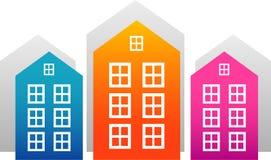 вектор домов иллюстрация штока