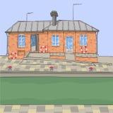 вектор Дом на канале стоковое изображение