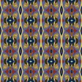 вектор декоративной картины иллюстрации безшовный Предпосылка вектора Цвета сини, оливки и терракоты Стоковое Изображение