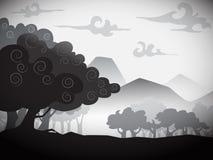 Вектор дерева силуэта Стоковое Фото