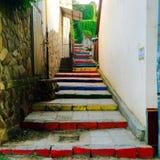 вектор лестниц радуги иллюстрации стилизованный Стоковая Фотография RF