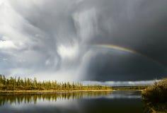 вектор лета радуги ландшафта иллюстрации Стоковые Фото