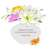 вектор детального чертежа предпосылки флористический Стоковые Фотографии RF