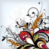 вектор детального чертежа предпосылки флористический стоковые изображения rf