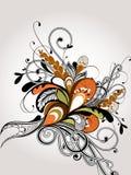 вектор детального чертежа предпосылки флористический стоковое изображение rf