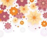 вектор детального чертежа предпосылки флористический Стоковое фото RF