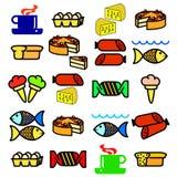 вектор еды установленный Стоковые Фото