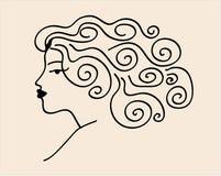 Вектор женщины эскиза Стоковое Изображение RF