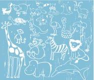 вектор животного милого illustr установленный Стоковое Фото