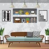 Вектор живущей комнаты Стоковое Фото